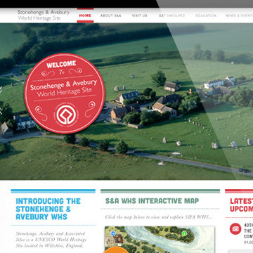 Screenshot of Stonehenge website